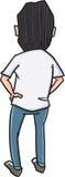 Homme de bande dessinée de croquis Images stock