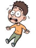 Homme de bande dessinée effrayé illustration stock