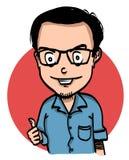 Homme de bande dessinée Images libres de droits