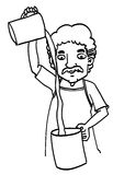 Homme de bande dessinée de croquis Photos libres de droits