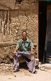 homme de basarwa image libre de droits