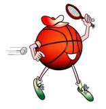 Homme de basket-ball jouant au tennis Photos stock