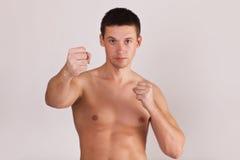Homme de Battler prêt à combattre Photos stock