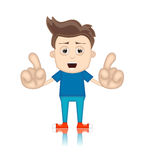 Homme de Ben Boy Cartoon Character Toon Image stock