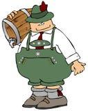 Homme de bière d'Oktoberfest illustration de vecteur