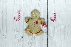 Homme de biscuit de pain d'épice image stock