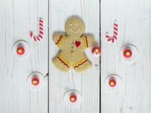 Homme de biscuit de pain d'épice photos stock