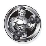 Homme de bodybuilding illustration de vecteur