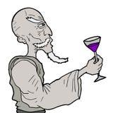 Homme de boissons Images libres de droits