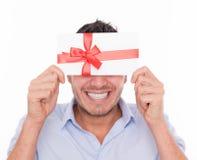 Homme de bon de cadeau Photos stock