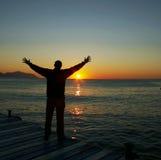Homme de bonheur Photographie stock libre de droits