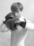 Homme de boxe images stock