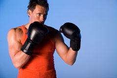 Homme de boxe. Photo stock