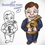 Homme de Busimess avec l'argent illustration de vecteur