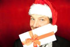 Homme de cadeau de Noël Image stock