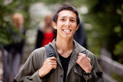 Homme de campeur heureux Image libre de droits