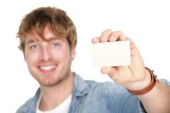 Homme de carte de visite professionnelle de visite Images libres de droits