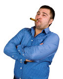 homme de cigare Images libres de droits