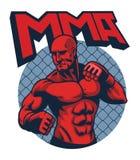 Homme de combattant de muscle Photo libre de droits