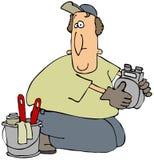 Homme de compteur à gaz Photos stock
