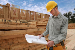 Homme de construction Images stock