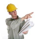 Homme de construction image stock
