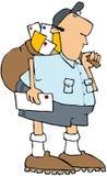 Homme de courrier des USA illustration stock