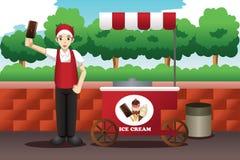 Homme de crème glacée  Images stock