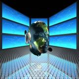 Homme de Cyber, chef de robots Photos libres de droits