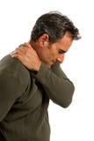 Homme de douleur d'épaule Images libres de droits