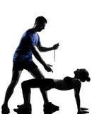 Homme de femme de couples exerçant la séance d'entraînement Photos stock