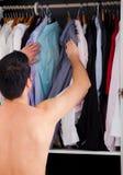 Homme de garde-robe Photo stock