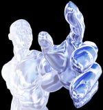 Homme de glace atteignant le dessin Photos libres de droits