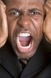 Homme de hurlement fâché Images libres de droits