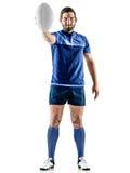 Homme de joueur de rugby d'isolement Image stock