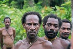 Homme de Korowai Kombai (Kolufo) Image libre de droits