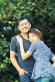 Homme de l'Asie et femmes, concept d'amour Images libres de droits