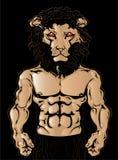 Homme de lion Photos stock