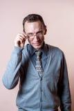 Homme 2 de lunettes Images libres de droits