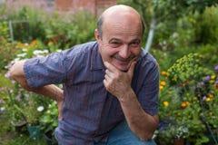 Homme de maturation caucasien bel avec la moustache Image libre de droits