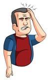 Homme de maux de tête Image libre de droits