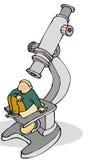 Homme de microscope illustration de vecteur