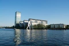 Homme de molécule, Treptow, Berlin, Allemagne images libres de droits