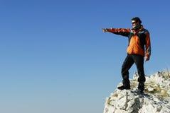Homme de montagne. Image libre de droits