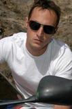 Homme de moto Image libre de droits