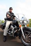 Homme de moto Images libres de droits