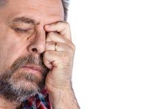 Homme de Moyen Âge souffrant d'un mal de tête Image libre de droits