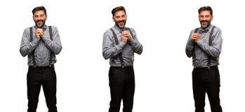 Homme de Moyen Âge portant un costume Photo libre de droits