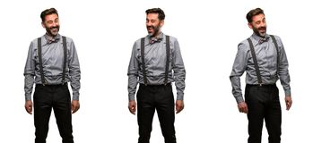 Homme de Moyen Âge portant un costume photo stock