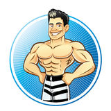Homme de muscle Illustration Libre de Droits